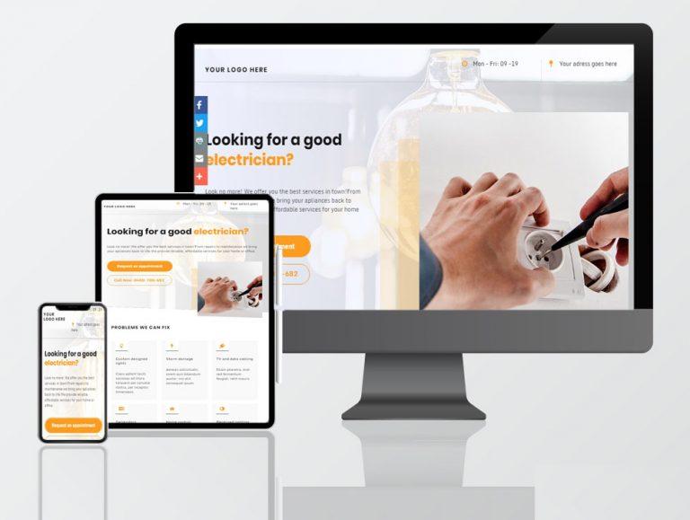electrician tradies web design
