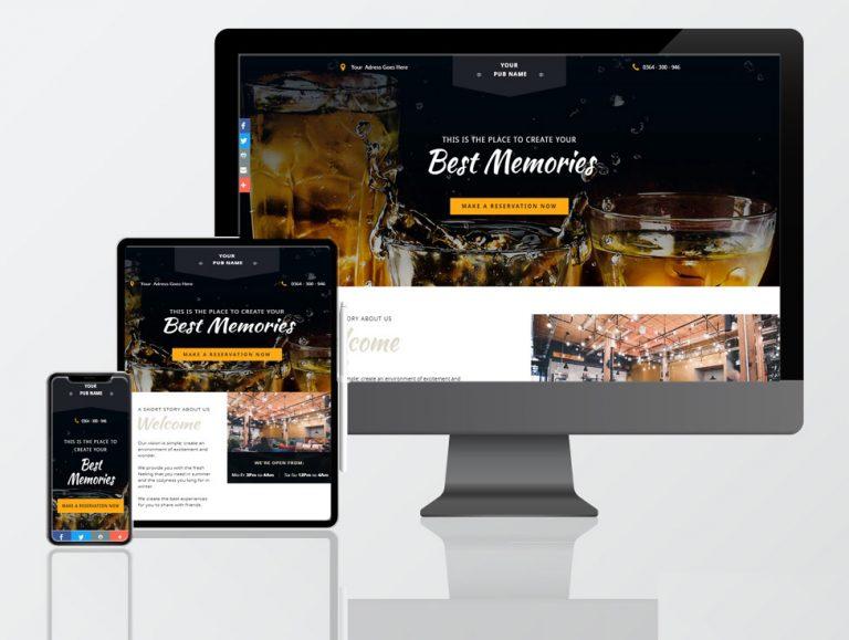 pub web design
