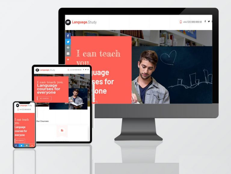 tutoring school web design