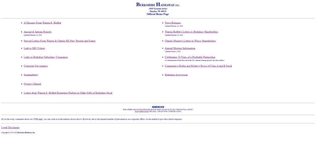 example of a functional website